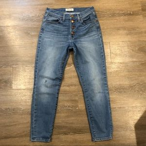 """🆕 Madewell 9"""" High Riser Skinny Crop Button-Front"""